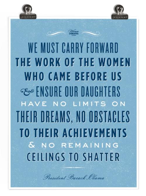 It's International Women's Day. Happy ceiling-shattering.