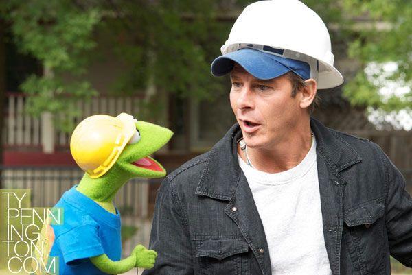 Ty Pennington and Kermit