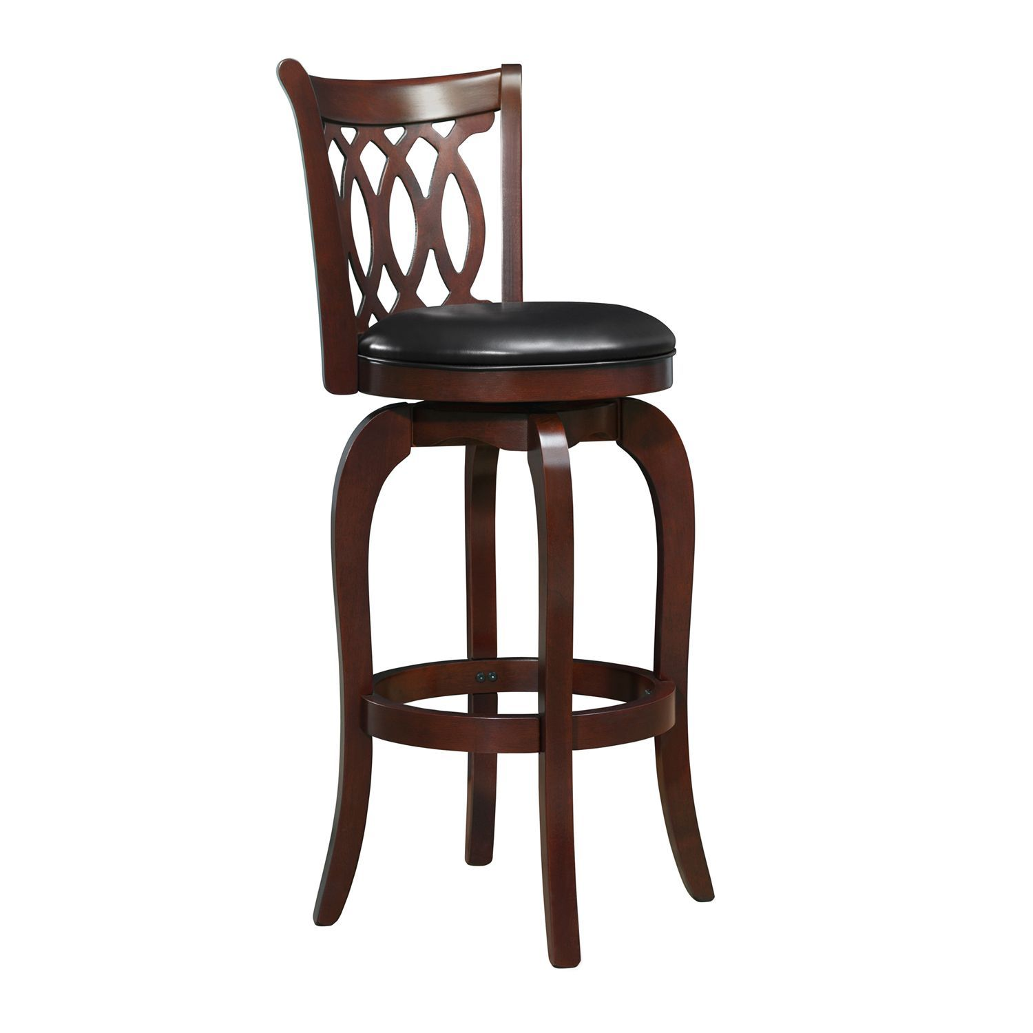 Cherry Wood 29 Swivel Barstool Bar Stools Eclectic Dining