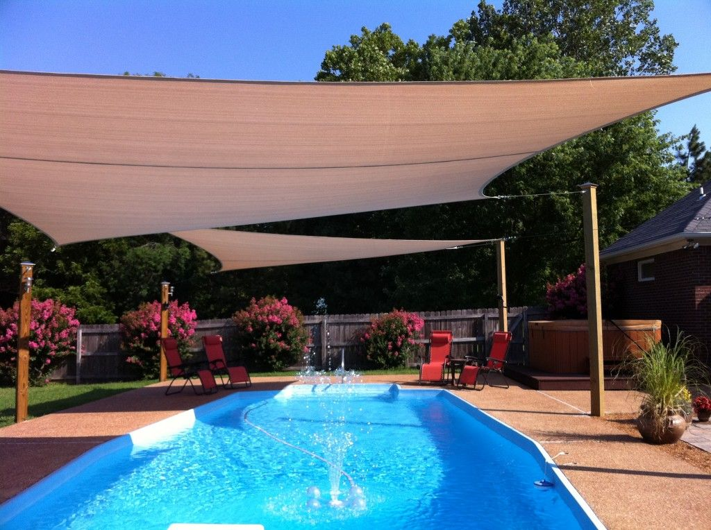 Swimming Pool Shade Ideas swimming pool shade structures pool sun shade greenline Cant Wait Until We Open The Pool And My Outdoor Sun Shade Sails Are