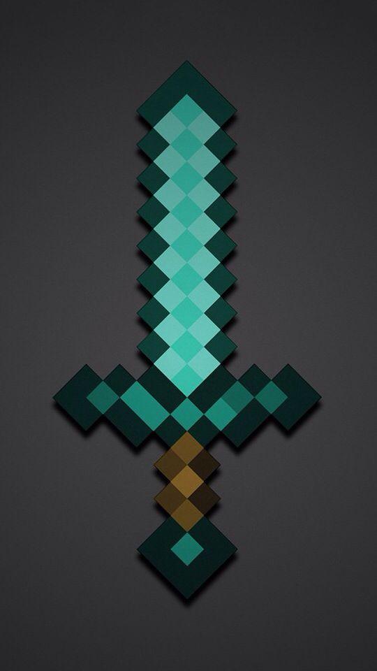Minecraft Dimond Sword Wallpaper Minecraft Wallpaper Minecraft Pictures Minecraft Images