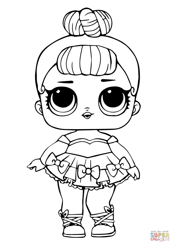 Lol Doll Miss Baby Glitter Super Coloring Disegni Da Colorare