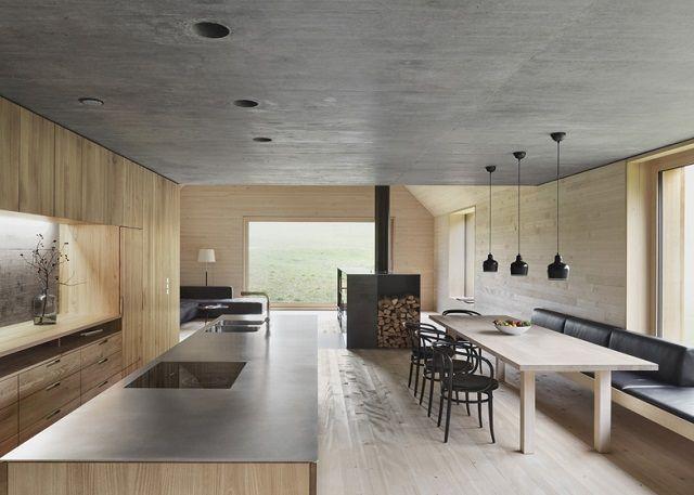 Wohntrends Haus am Moor von Bernardo Bader Architekten - wohn und essbereich gestalten