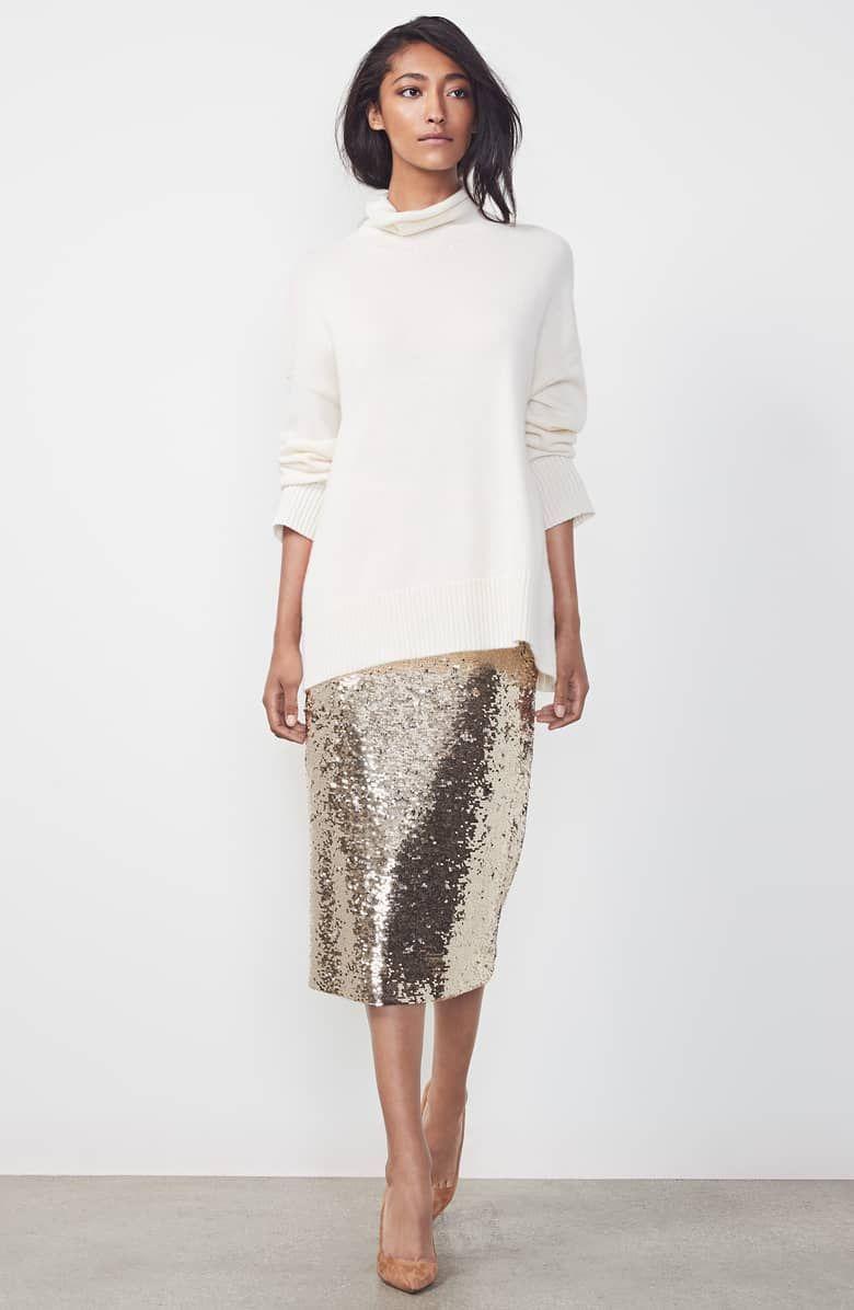 a3890d2fb Casey Sequin Pencil Skirt, Alternate, color, BISQUE METALLIC ...