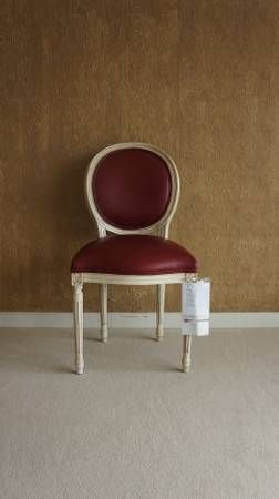 Josephine Leather Chair By Ethan Allen Louis Xvi Style Chair