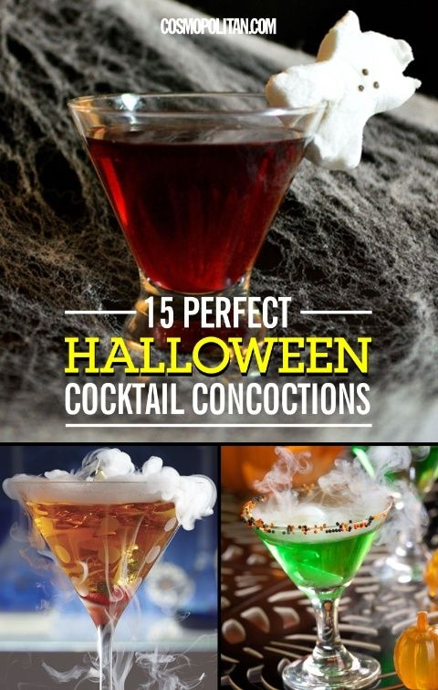 24 Spooky Halloween Cocktail Concoctions Halloween cocktails - halloween cocktail ideas