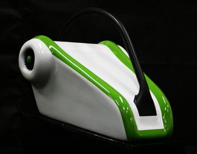 Projeto para uma lavadora de pressão impulsora de ar.
