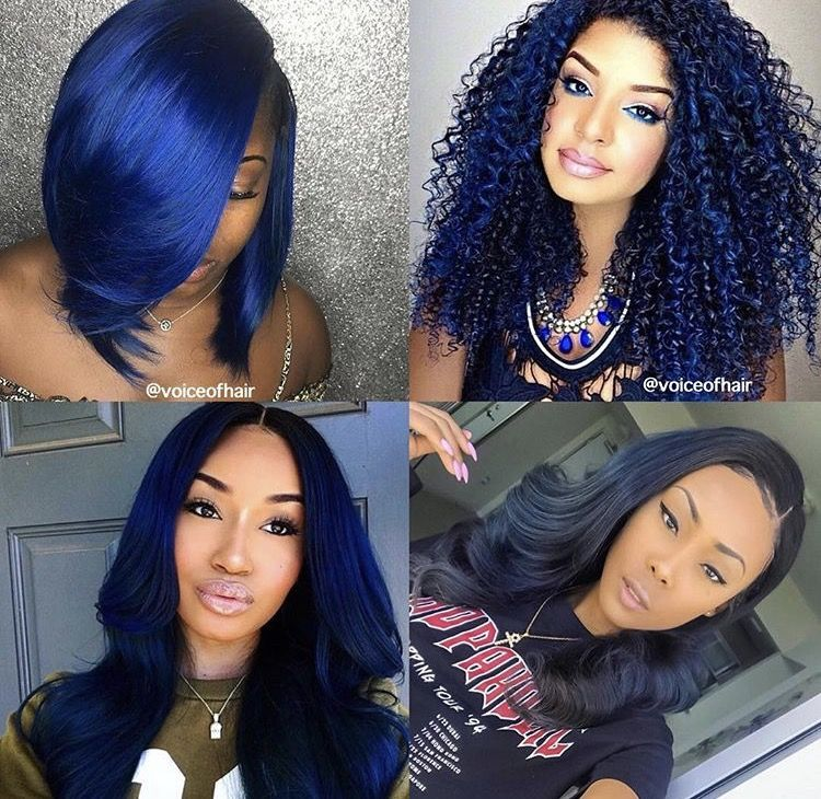 Best Images Of Blue On African American Women Hair Color For