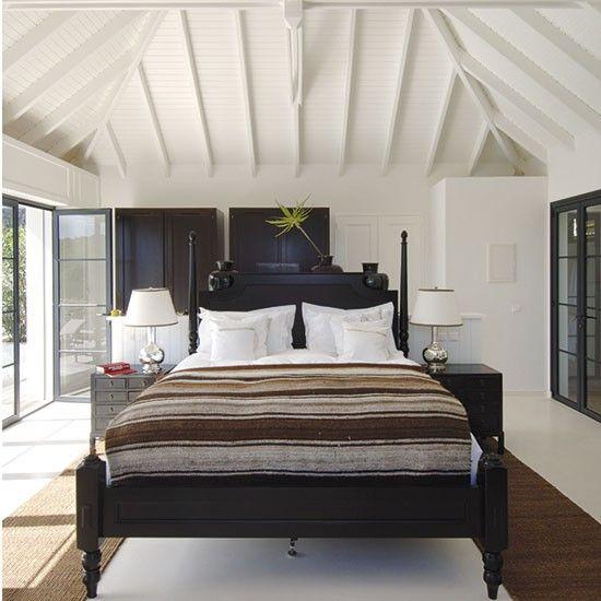 colonial bedroom ideas. Bold Colonial Bedroom In Contrast Shades Ideas R