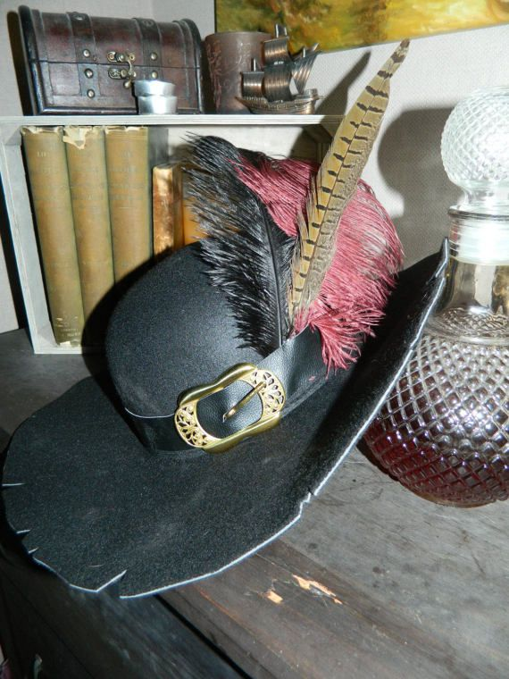 0a9b974501f7b Captain Barbossa Wide Black Cosplay Pirate Hat Pirates of the Caribbean  Fancy Dress