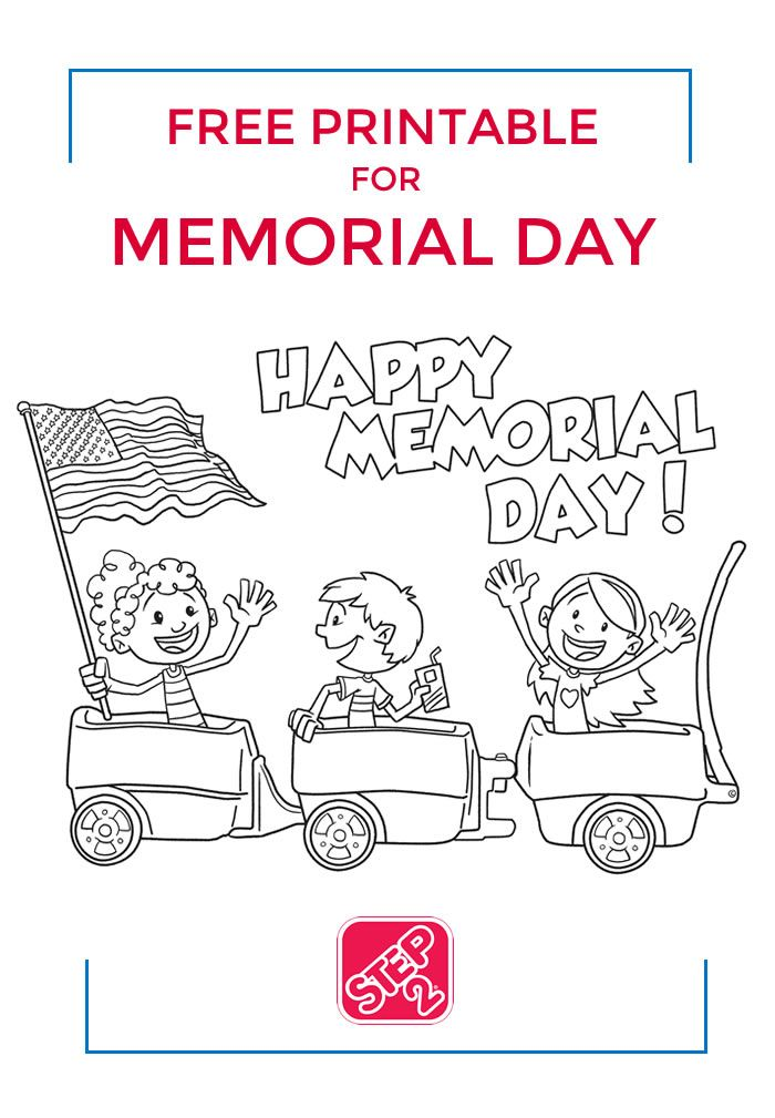 Free Printable From Step2 For Memorial Day Print This Coloring