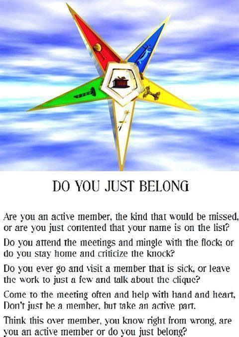 Order Of Eastern Star Poems Oes Something To Think About Star