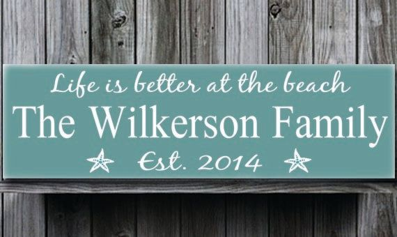 Personalized Beach House Sign Life Is Better At The Theme Family Name With Elished Date Cabin Cottage Farm