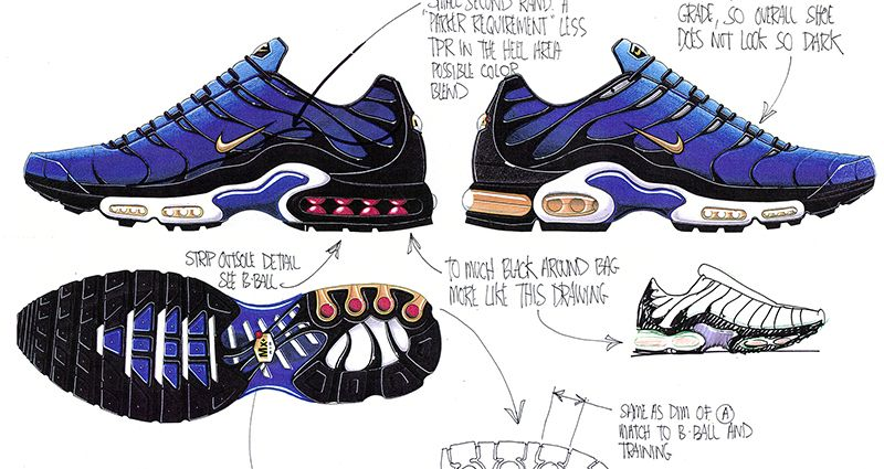 0bcb13eebcc1f Nike Explain the Air VaporMax Plus | Shoe Sketches | Sneakers sketch ...