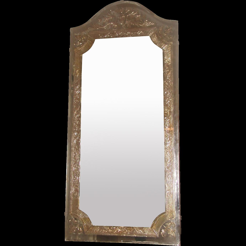 Beveled Foil Mirror 20th Century Unusual   Mirror decorations ...