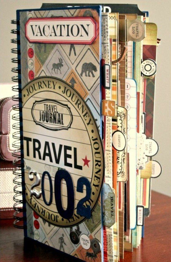 comment faire un carnet de voyage id es inspirantes en 60 photos journal scrapbooking and bullet. Black Bedroom Furniture Sets. Home Design Ideas