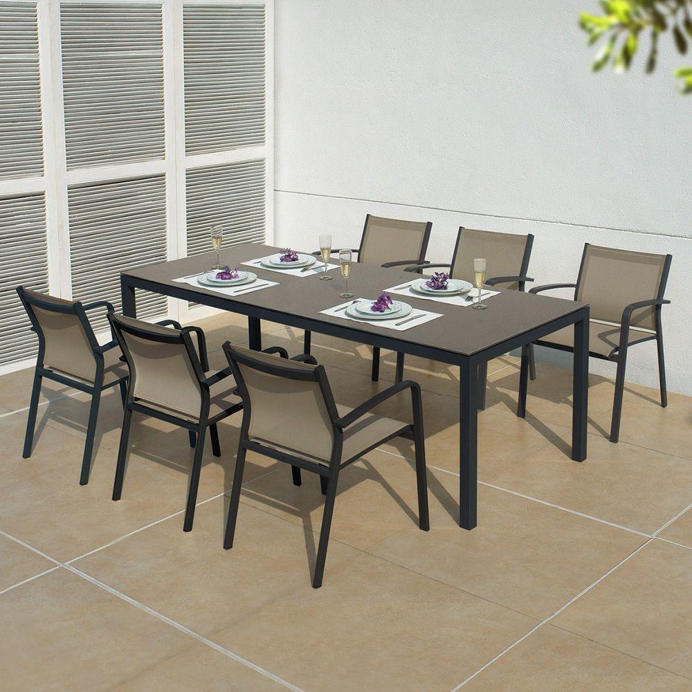 mobexpert set mobilier gradina terasa 6 scaune masa. Black Bedroom Furniture Sets. Home Design Ideas
