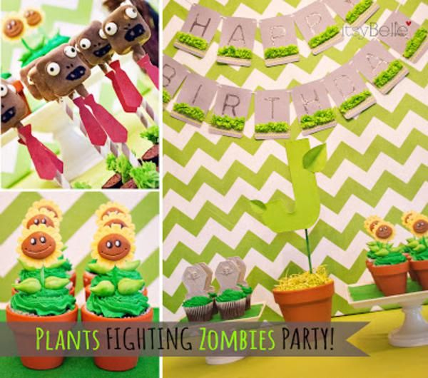 Plants Vs Zombies Boy Video Game 6th Birthday Party Planning Ideas