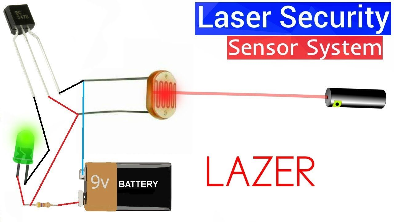 How To Make Laser Security Sensor System At Home Using Bc547