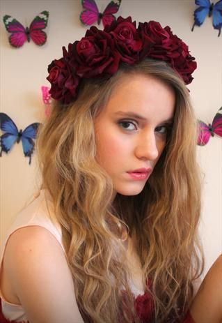 hat hair styles diy flower headband littleoh etc diy 4772