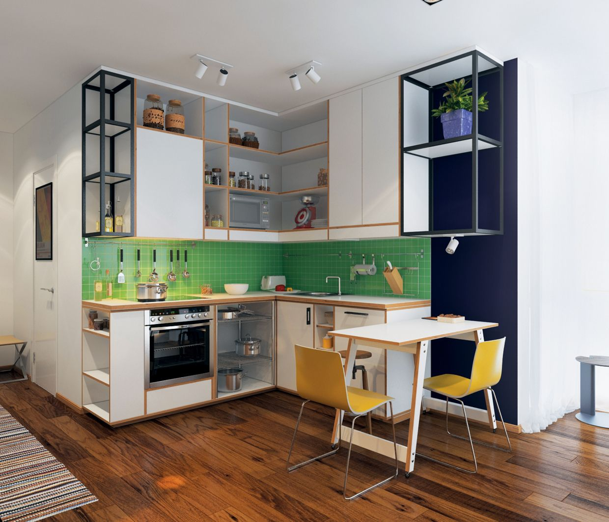L Shaped Kitchen Ideas For Multipurpose Spaces: Inspiráció és ötletek