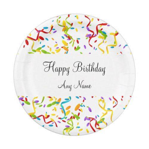 Confetti Monogram Birthday Party Paper Plate  sc 1 st  Pinterest & Confetti Monogram Birthday Party Paper Plate   Confetti Monograms ...
