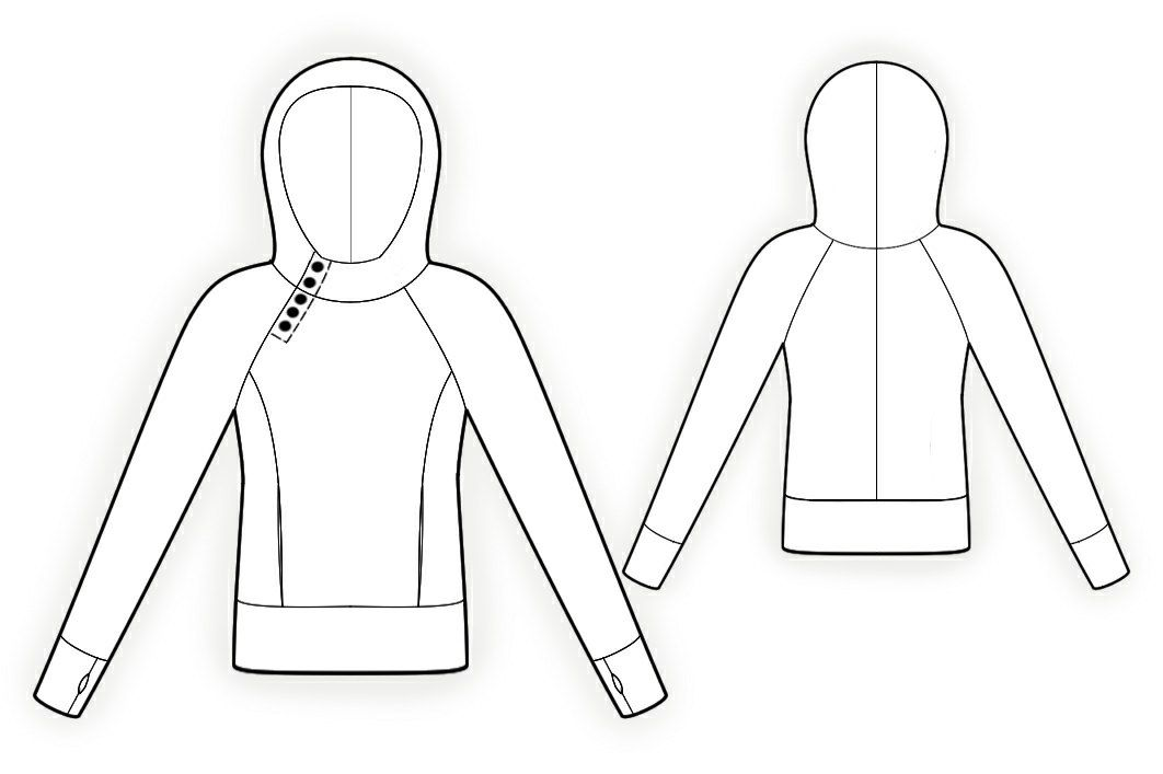 Sweatshirt - Sewing Pattern #4097 Made-to-measure sewing pattern ...