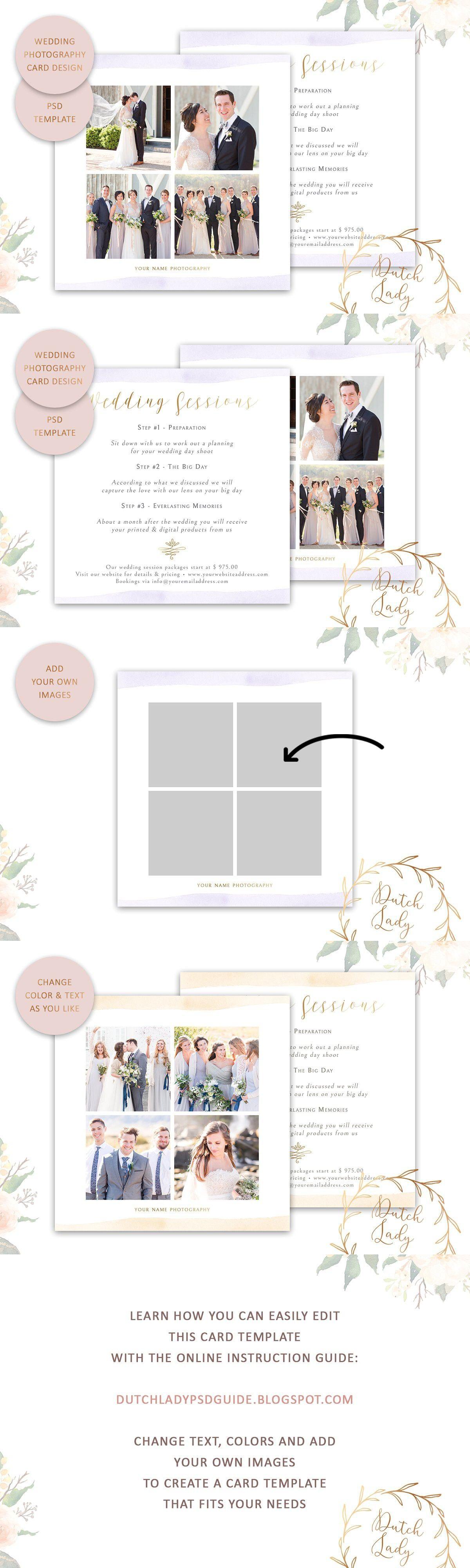 Psd Wedding Photo Card Template 4 Photo Wedding Card Photo Card Template Card Template
