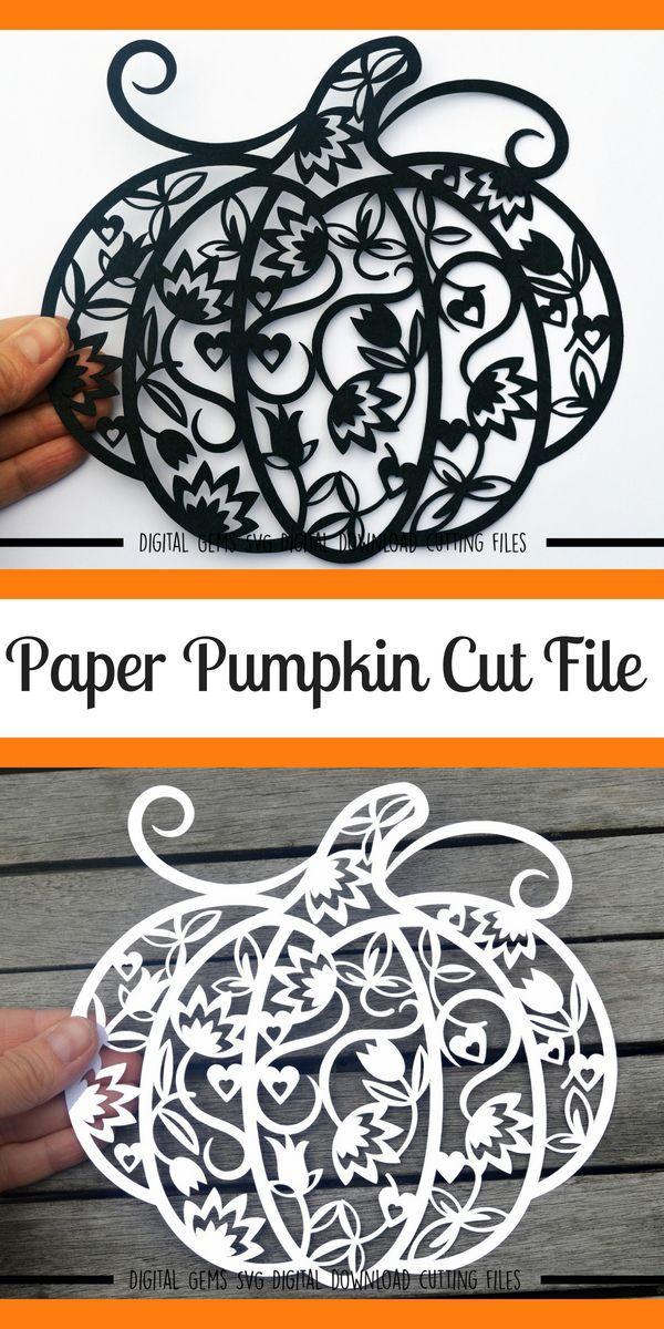 Pumpkin Paper Cut SVG / DXF / EPS Files