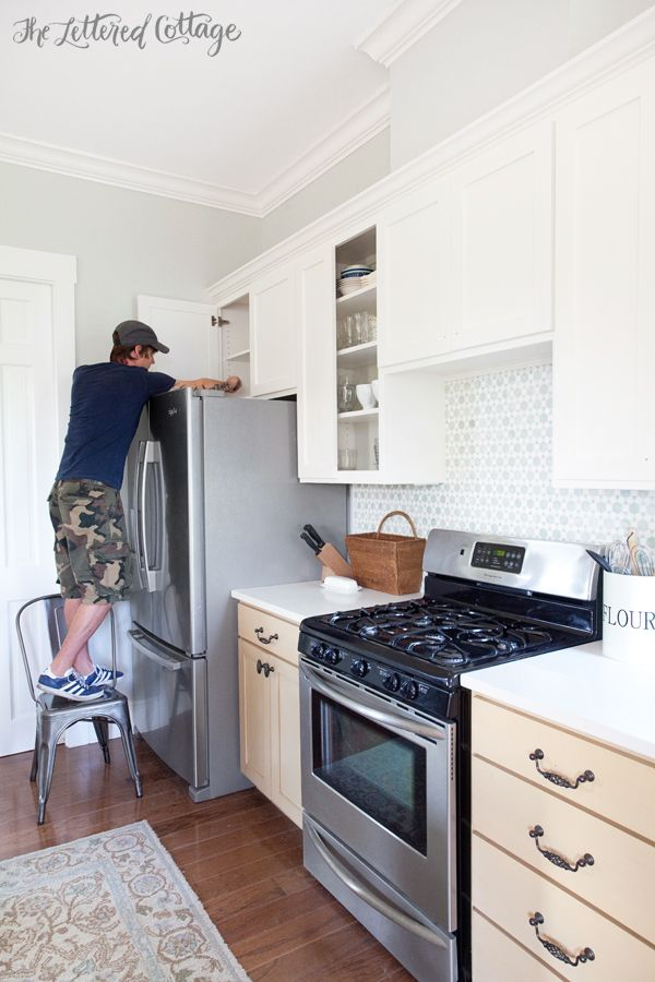 Painting Kitchen Cabinets | Simply White | Benjamin Moore Color ...