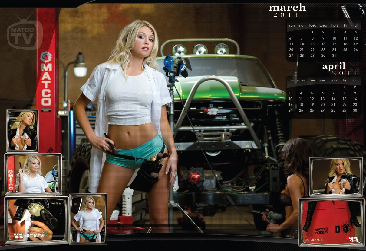 March April 2011 Matco Tools Calendar Girl Matco S