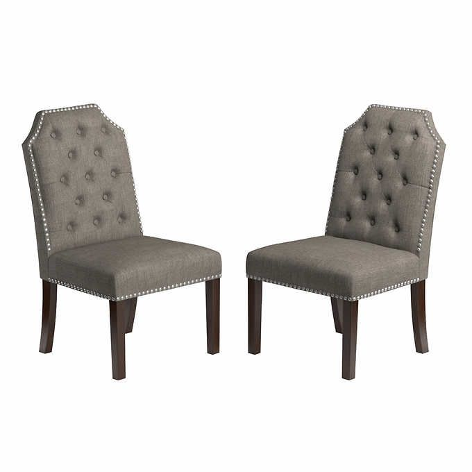 Michelle Dining Chair 2 Pack Gray
