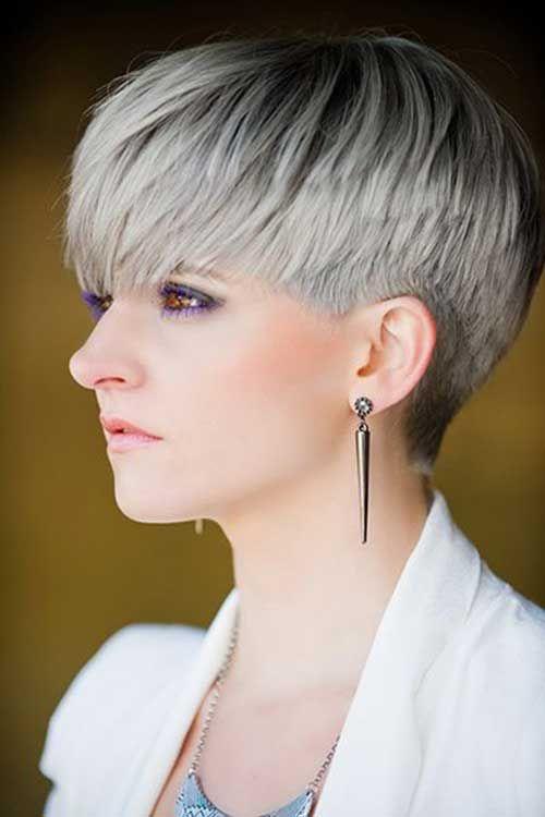 8.Pixie Haircut for Gray Hairs | Pixie Cuts | Pinterest | Pixie ...