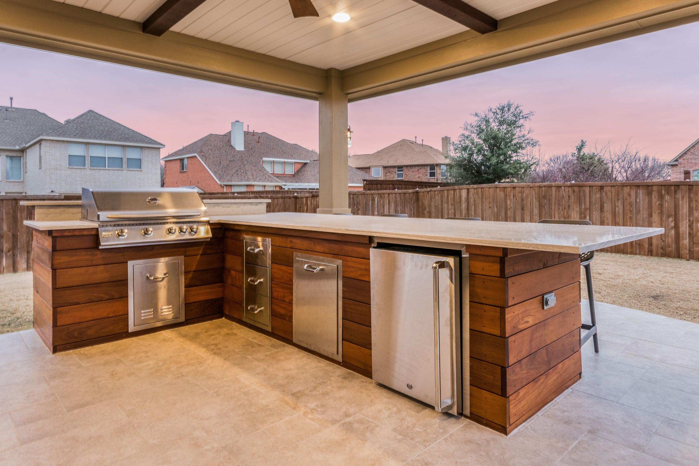 Ipe Wood On Outdoor Kitchen Outdoor Kitchen Outdoor Kitchen Design Patio Design
