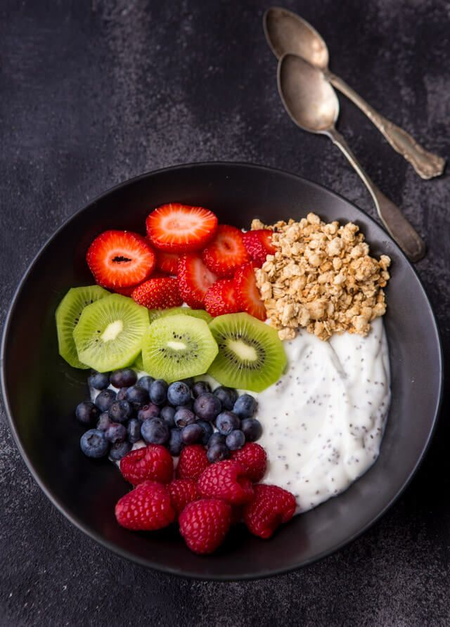 Start your morning off in the right direction with this easy Chia Yogurt Breakfast Bowl with Yoplait 1-Up Your Cups.