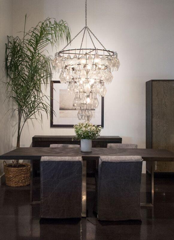 Adeline Chandelier Large Gold Leaf Dining Room Light