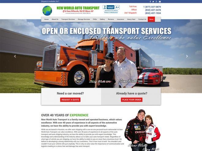 Website Design Auto Transport With Images Internet Marketing