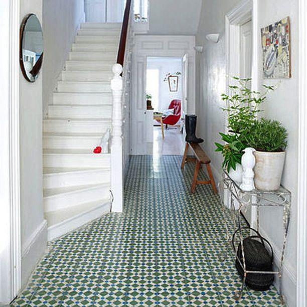 green floor in foyer