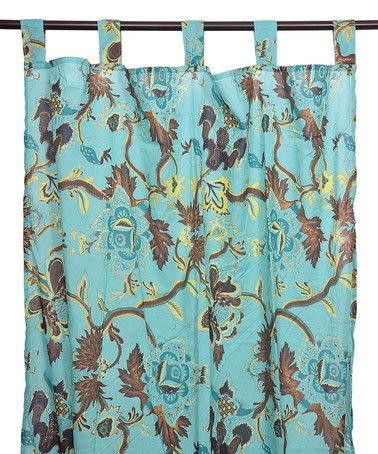 Karma Living Karma Living Turquoise Tree Branch Cotton Curtain