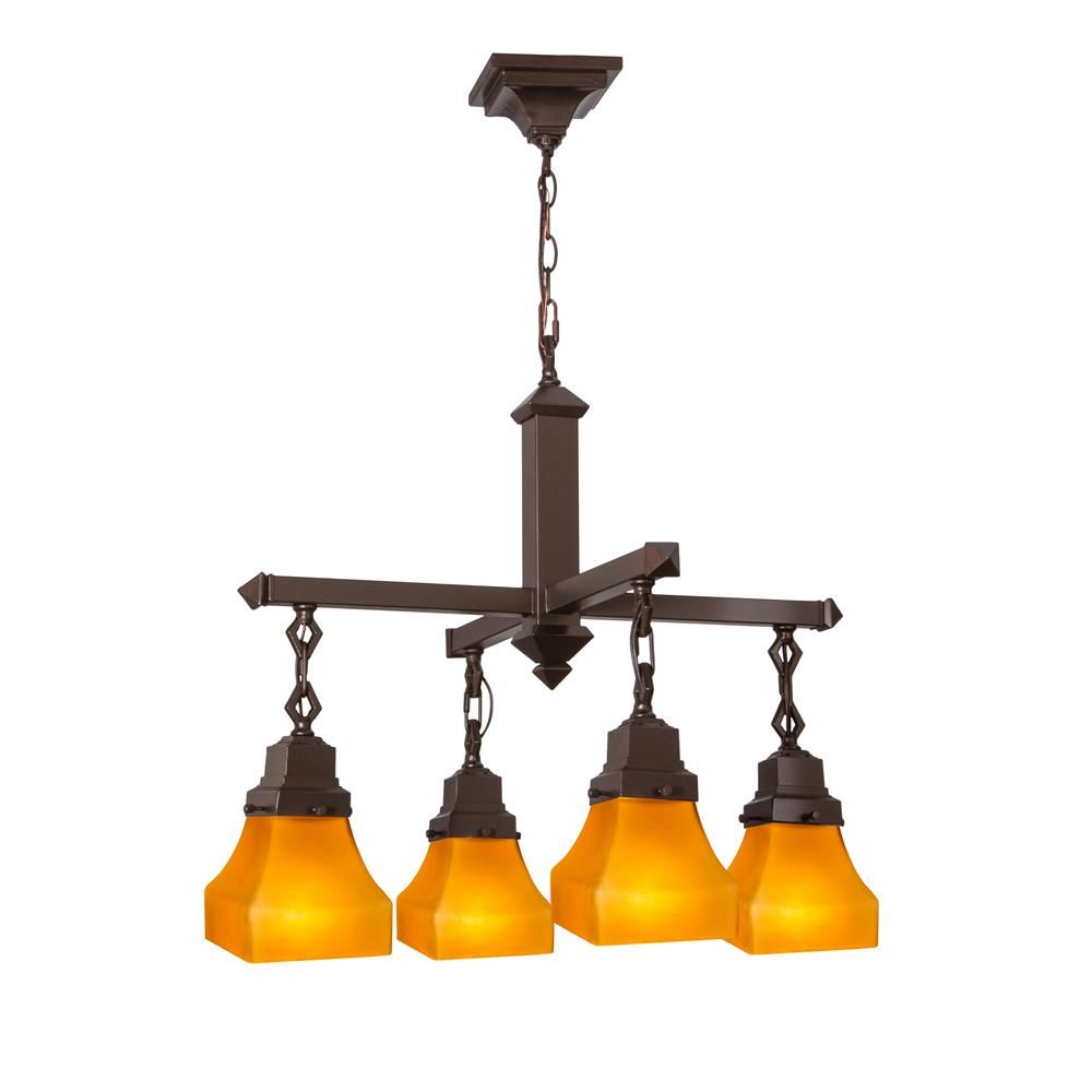 Meyda tiffany lighting 50363 26w bungalow frosted amber 4 lt meyda tiffany lighting 50363 26w bungalow frosted amber 4 lt chandelier aloadofball Image collections