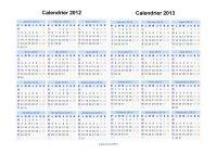 Calendrier 2012 2013 Paysage en JPEG Image