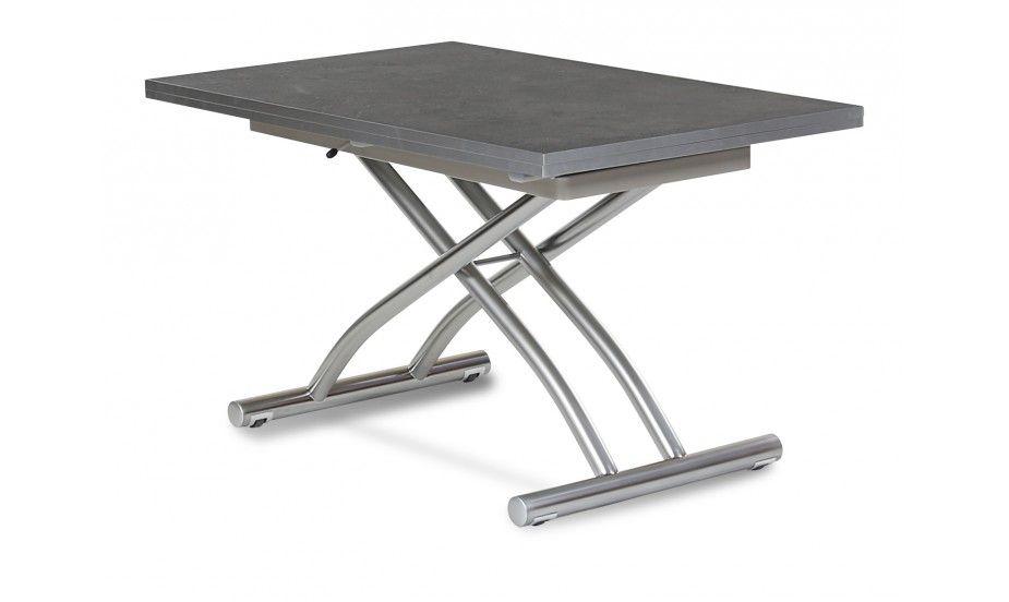 cette table modulable se transforme d 39 une petite table basse 28 cm pour 4 personnes une. Black Bedroom Furniture Sets. Home Design Ideas