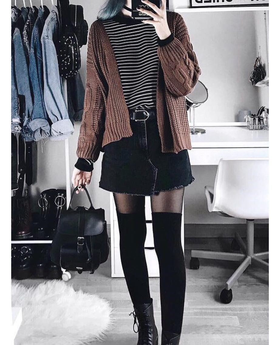 jacquicaszee | Edgy fashion grunge, Trendy winter fashion