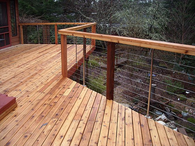 Deck Cable Railing Save But Doesn T Obstruct The View