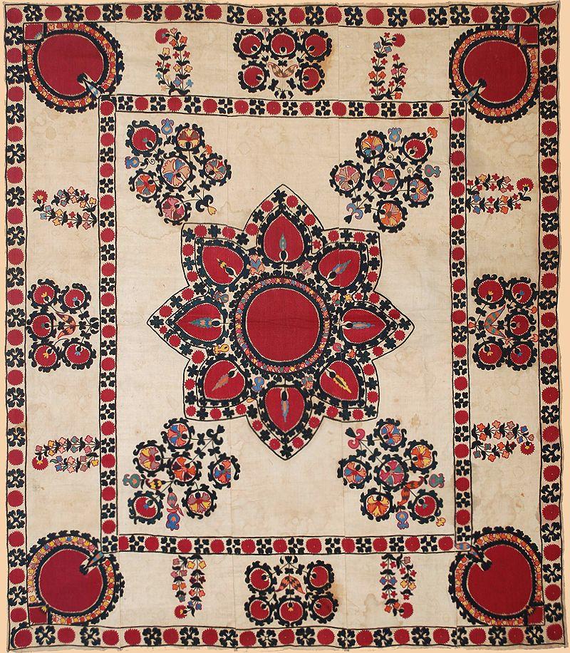 Middle Eastern Textiles Suzani Antique Textiles Embroidery Techniques