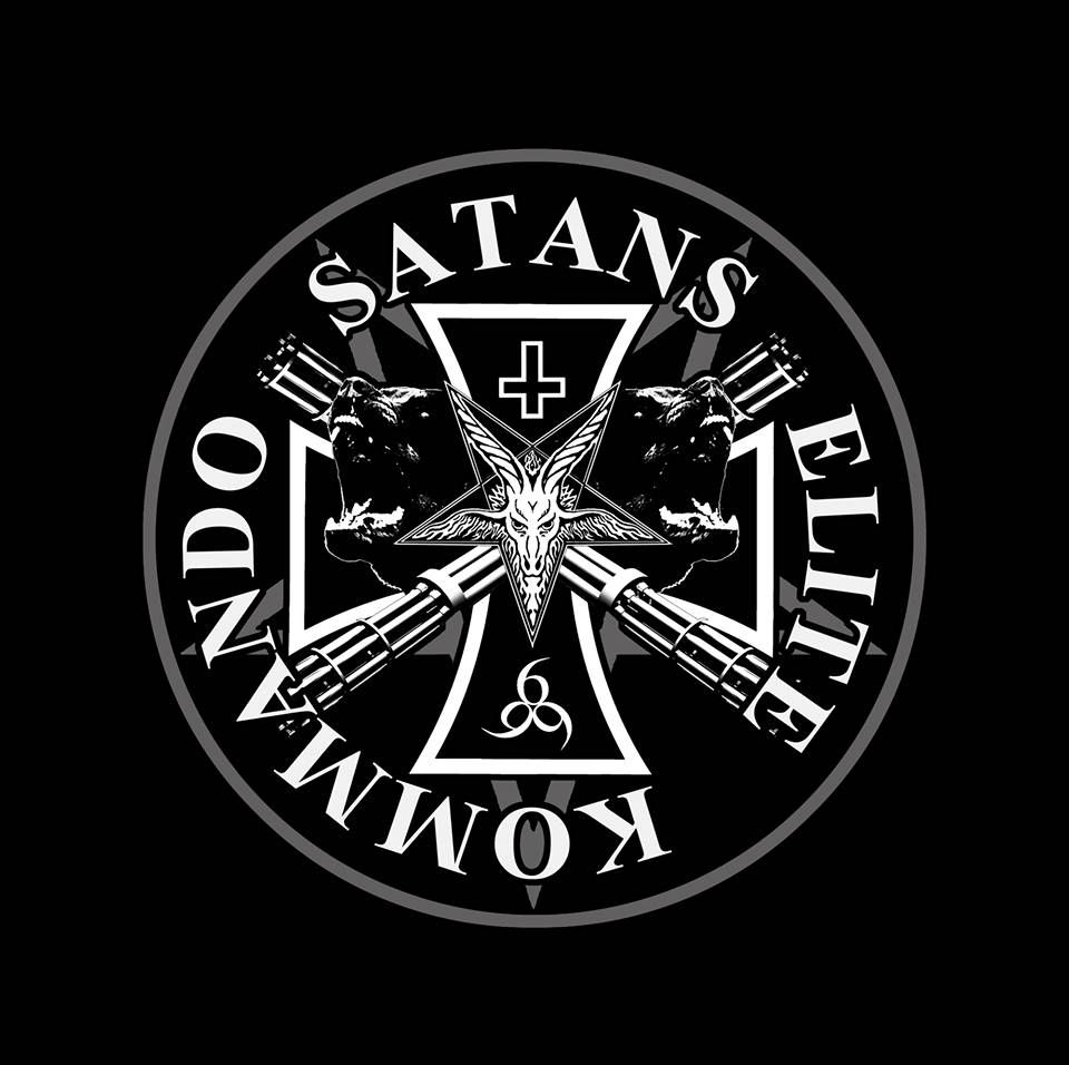 Satans Elite Kommando | Metallic logo, Sport team logos