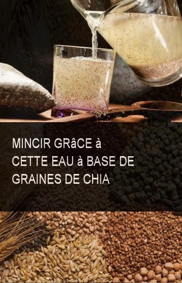 Mincir grâce à cette eau à base de graines de chia
