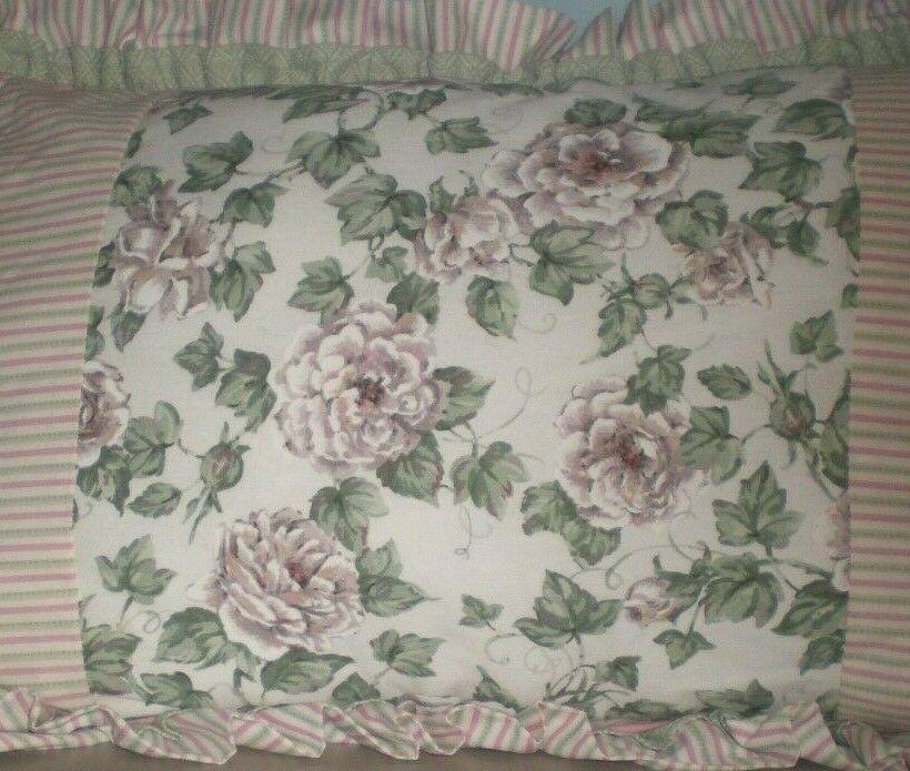 jcp home linen beige floral king pillow