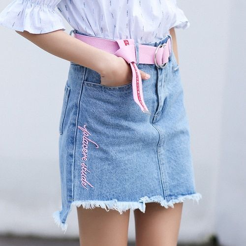 more photos ever popular up-to-date styling Cheap denim skirt women, Buy Quality denim skirt directly ...