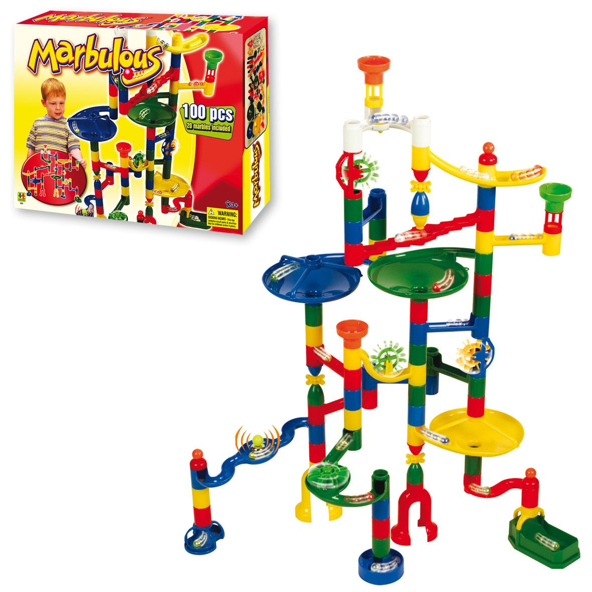 Marbulous Marble Run 100 Piece Set S